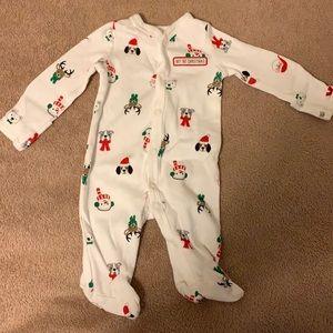 """Carter's Newborn Xmas Pajamas """"My 1st Christmas"""""""